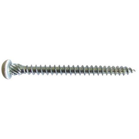 Vis TOP pour menuiserie PVC, diamètre 6 mm, longueur 75 mm, boîte de 100 pièces