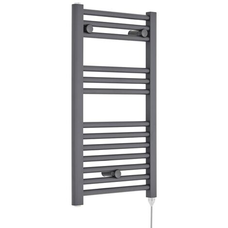 Visage 400mm x 720mm Electric Heated Towel Rail - Anthracite (300W)