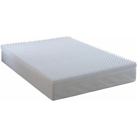 Visco Memory Reflex Egg Shell Mattress Topper, Orthopaedic, Support, Plain Relief without Cover- 4FT6 Double