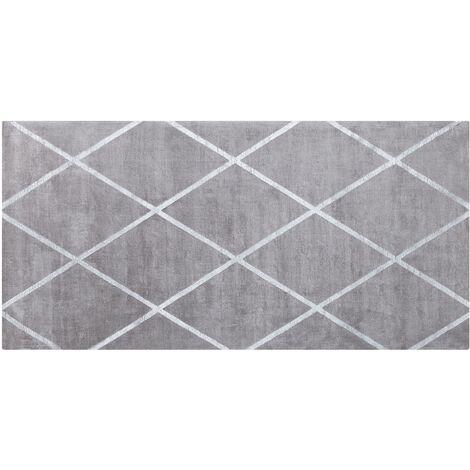 Viscose Area Rug 80 x 150 cm Light Grey ATIKE