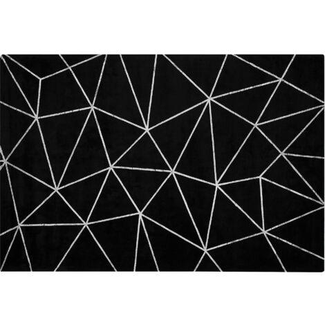 Viscose Rug 140 x 200 cm Black HAVZA