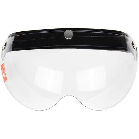 Visière de pare-brise Casque de moto de style pilote 3-Snap Face Wind Shield (clair)