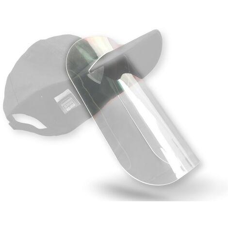 Visière de protection faciale -Ecran plexiglas amovible épais rigide transparent – Option casquette - Quantité x3 - Visière seule