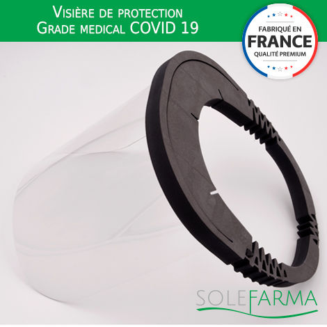 Visière de protection Grade medical COVID 19 -SOLEFARMA