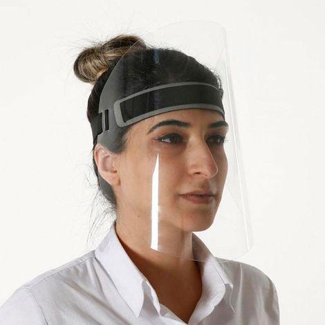 Visière de protection visage réglable anti-projections