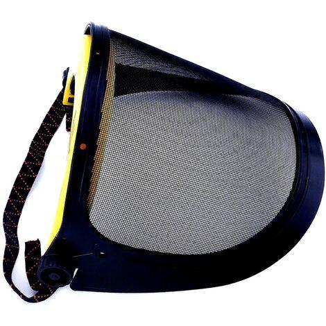 Visière et casque pour débroussailleuse ou tronçonneuse