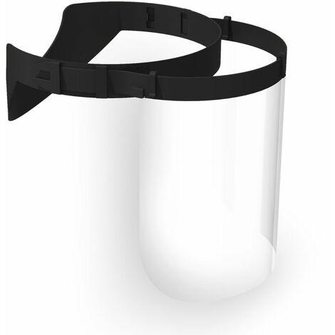 Visière noire règle de protection 10 pièces - Lot de 10 - Noir