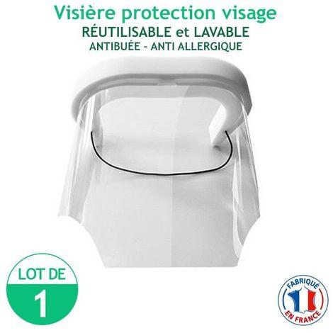 Visière protection visage - réutilisable et lavable - antibuée - anti Allergique