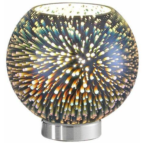 Vision 1 Light Chrome Table Lamp