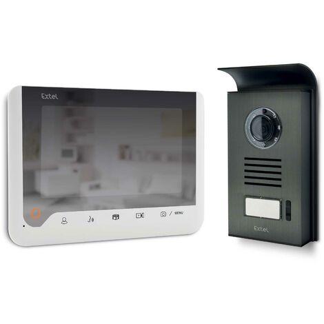 Visiophone 2 fils 7 pouces à mémoire de passage et à effet miroir - Blanc - Extel -