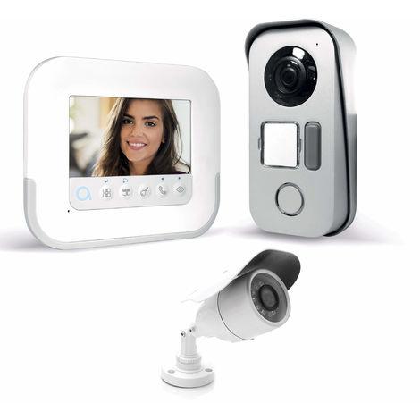 Visiophone 2 fils avec accès RFID - Ylva 3+ - Avidsen - 4,3 pouces + caméra