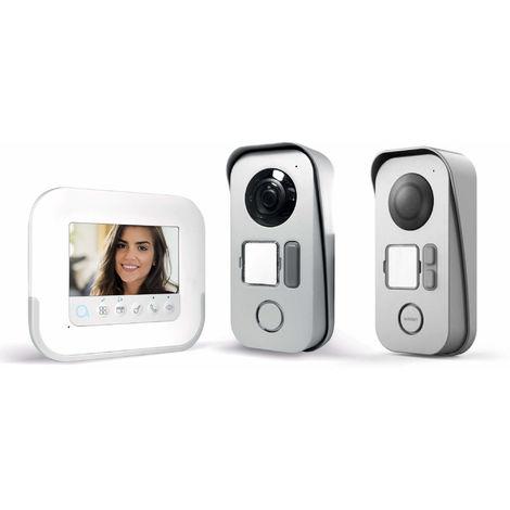 Visiophone 2 fils avec accès RFID - Ylva 3+ - Avidsen - 4,3 pouces + platine de rue 2 logements
