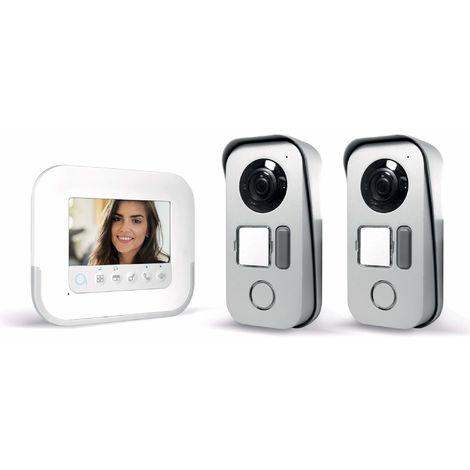 Visiophone 2 fils avec accès RFID - Ylva 3+ - Avidsen - 4,3 pouces + platine de rue supplémentaire 1 logement