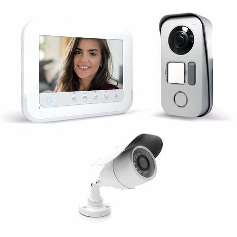 Visiophone 2 fils avec accès RFID - Ylva 3+ - Avidsen 7 pouces soit 18 cm de diagonale - 7 pouces + caméra
