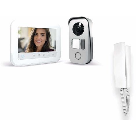 Visiophone 2 fils avec accès RFID - Ylva 3+ - Avidsen 7 pouces soit 18 cm de diagonale - 7 pouces + interphone