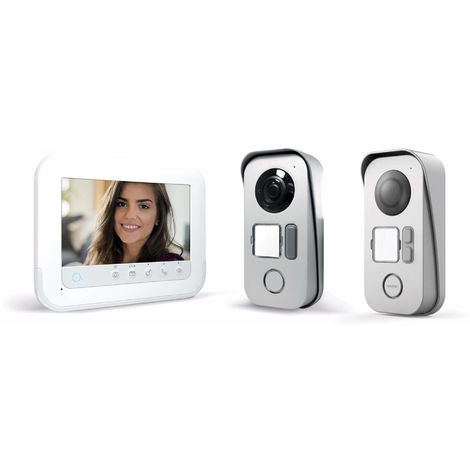 Visiophone 2 fils avec accès RFID - Ylva 3+ - Avidsen 7 pouces soit 18 cm de diagonale - 7 pouces + platine de rue 2 logements