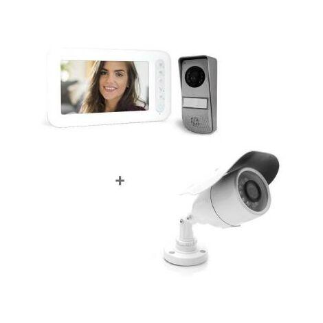 Visiophone 2 fils avec écran 7 pouces - Ylva 3 - Avidsen - Visiophone + Caméra