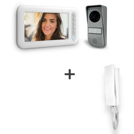 Visiophone 2 fils avec écran 7 pouces - Ylva 3 - Avidsen - Visiophone + combiné interphone