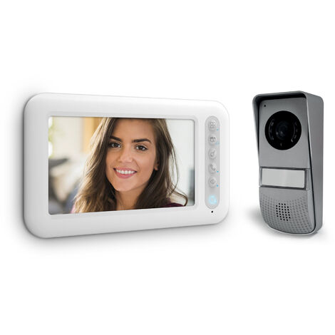Visiophone 2 fils avec écran 7 pouces - Ylva 3 - Avidsen - Visiophone + écran supplémentaire