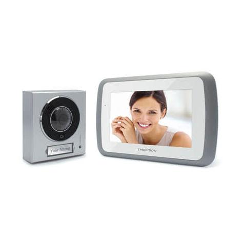 Visiophone 2 fils - Écran 7 - Fonction mémoires des visiteurs - THOMSON