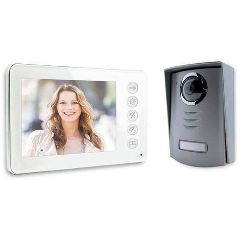 Visiophone 4 fils écran couleur 4.3 pouces ultra plat blanc Generique