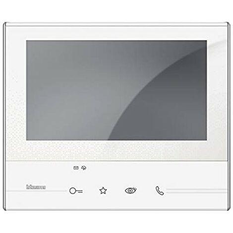 Visiophone bticino Classe 300V13E 2 fils Touch Screen 7 pouces répondeur blanc