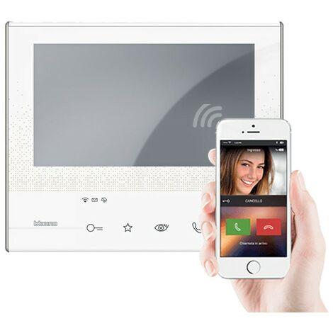 Visiophone bticino Classe 300X13E 2 fils WiFi Touch Screen 7 pouces répondeur blanc
