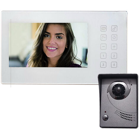 """main image of """"Visiophone Couleur Interphone Vid?o Filaire 2 Fils Ecran 7 pouces BLYSS 582889"""""""