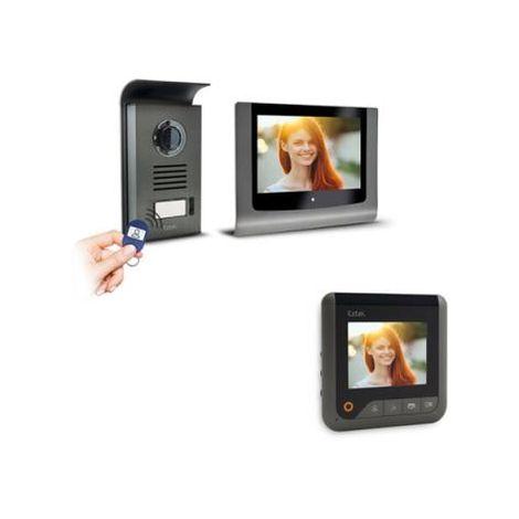 Visiophone Extel LEVO Access avec contrôle d'accès RFID intégré - Visiophone + écran supplémentaire