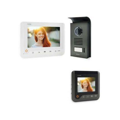 Visiophone extel nova - couleur 2 fils Noir - Visiophone BLANC + écran supplémentaire
