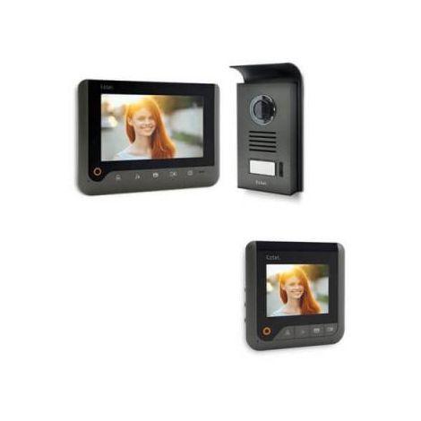 Visiophone extel nova - couleur 2 fils Noir - Visiophone NOIR + écran supplémentaire