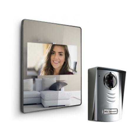 Visiophone extra plat LUTA 2+ - Effet miroir