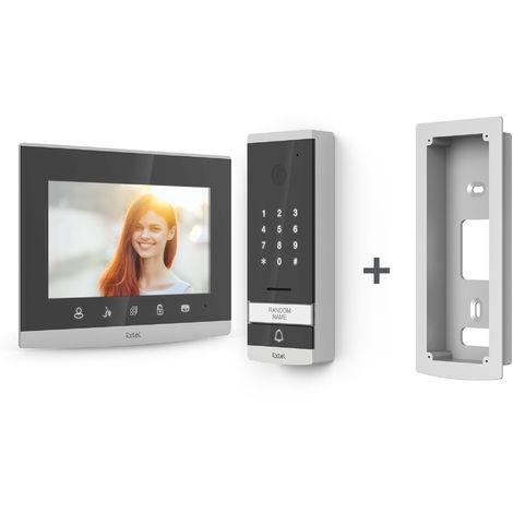 Visiophone filaire EXTEL Code 7 pouces / 14cm avec clavier à code intégré -