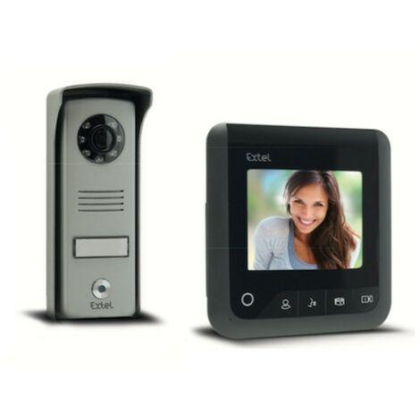 Visiophone Look écran 4 - 2 fils - Gris anthracite