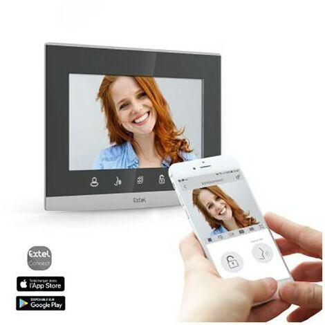 Visiophone sans fil connecté Wave Extel - Écran 7 - Gris