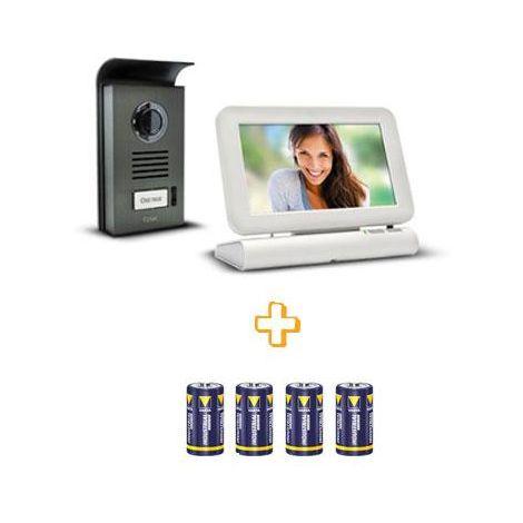 Visiophone sans fil Extel LESLI avec mémoire de passage Visiophone - Visiophone + 4 piles