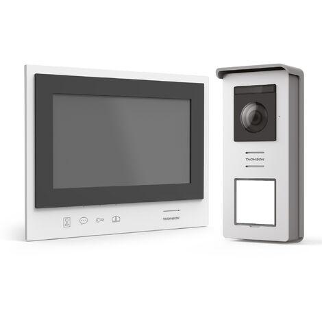 Visiophone sans fil simple à installer avec écran nomade sur batterie - Thomson Air -