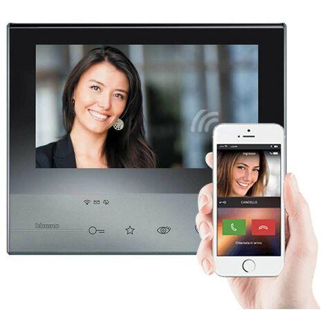 Visiophones Bticino Classe 300X13E 2-fil WiFi Écran Tactile 7 pouces voix sombre