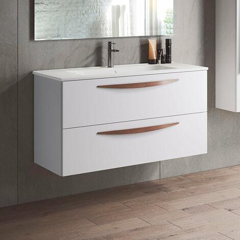 VISOBATH ARCO Mueble+Lavabo Suspendido 2 Cajones Blanco Mate - Medida: 100 cms