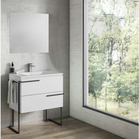 VISOBATH SCALA Conjunto Mueble Completo Con Estructura Blanco Soul - Medida: 80 CM