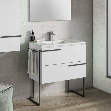 VISOBATH SCALA Mueble+Lavabo Con Estructura Blanco Soul - Medida: 80 CM