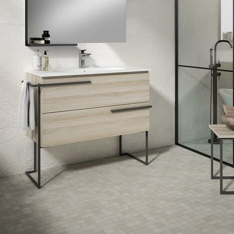 VISOBATH SCALA Mueble+Lavabo Con Estructura Crudo - Medida: 60 cms