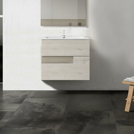VISOBATH VISION Mueble+Lavabo Suspendido 2 Cajones Abedul/Tortora - Medida: 60 cms