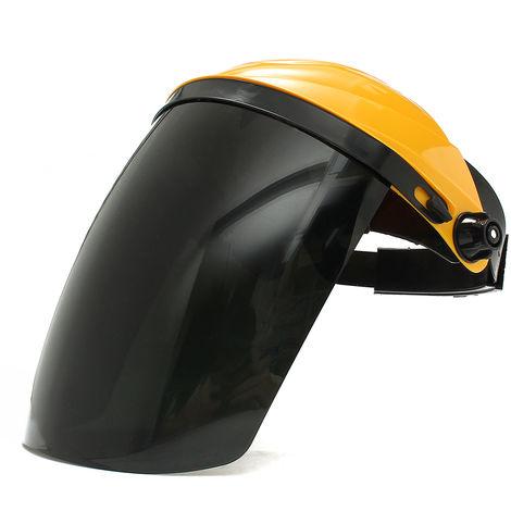 Visor de protección de máscara de soldadura TIG ajustable + gafas de seguridad amarillas