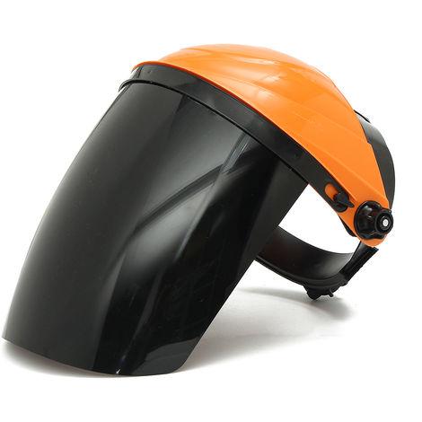 Visor de protección de máscara de soldadura TIG ajustable + gafas de seguridad naranja