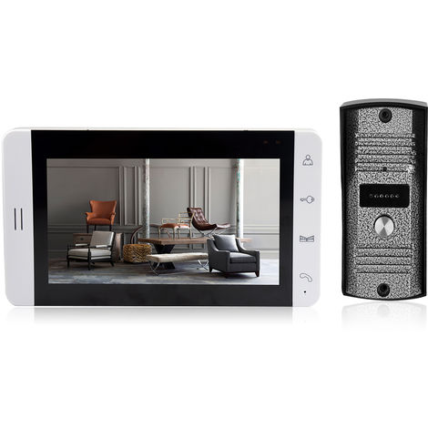 Visor de puerta, timbre de video, Kit de monitor de intercomunicacion, 7 pulgadas