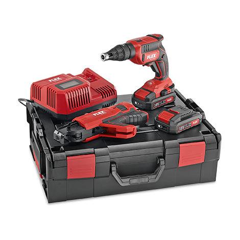 Visseuse 18V pour vis autoperceuses DW 45 18.0-EC M/2.5 Set FLEX - 2 batteries + chargeur + L-Boxx - 466824