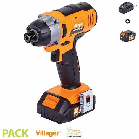 Visseuse à choc électrique sans fil 18V 180Nm avec batterie et chargeur Fuse VLN 3420 Villager