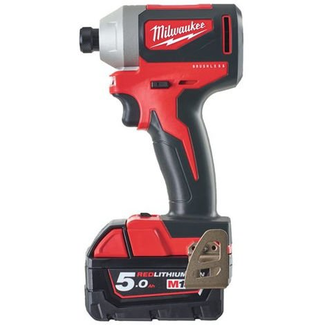 Visseuse à chocs 18V compacte MILWAUKEE - M18 BLID2-502X - 2 batteries + chargeur + HD Box - 4933464520