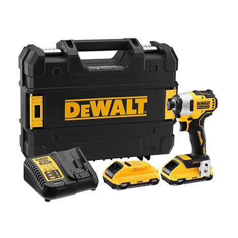 Visseuse à chocs 18V XR Brushless + 2 batteries x 3.0Ah en coffret TSTAK Dewalt